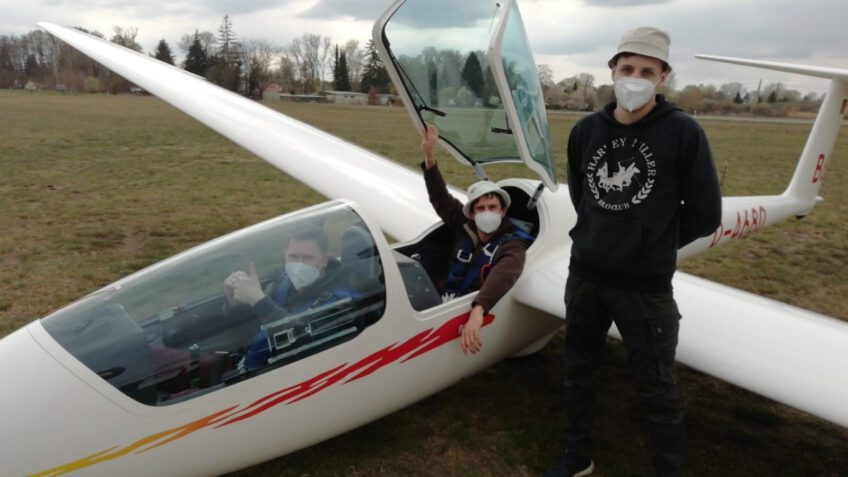 Flugbetrieb auf dem Mühlenfeld