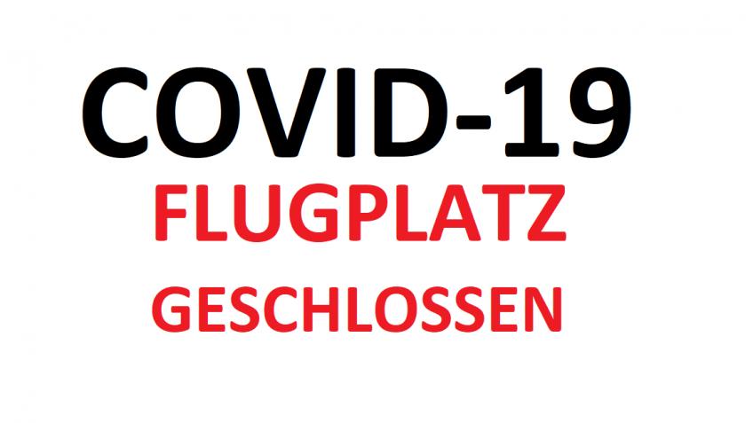 Der Fliegerklub Brandenburg e.V. bleibt bis einschließlich 19.04.2020 geschlossen