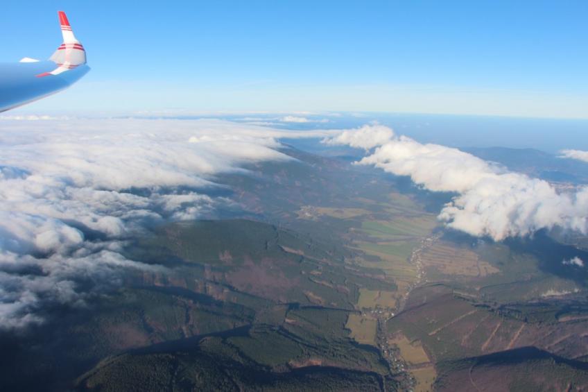 Wellenfliegen am Altvatergebirge